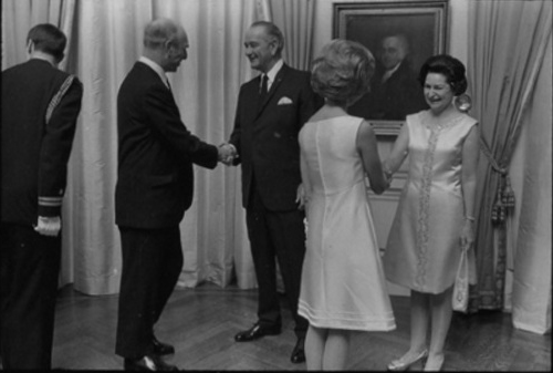 Mr and Mrs Maisel in Receiving Line for WH Reception, Jan. 3, 1969 - roll B2942