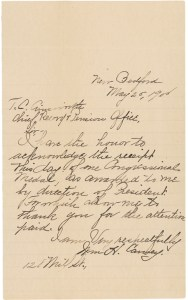 594895 - Carney's Acknowledgment of Receipt of Medal of Honor
