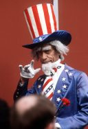 Uncle Sam makes an appearance during President Ronald Reagan's inaugural celebrations, 1/20/1981. (National Archives Identifier 6364736)