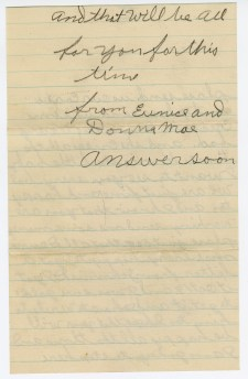 Eunice Vanderbilt to Margaret Vanderbilt, November 14, 1930. (Records of the Bureau of Indian Affairs)
