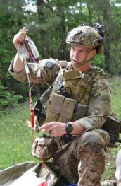 A medic from the 75th Ranger Regiment conducts combat trauma management training April 15 at Fort Benning. Picture via: http://www.army.mil/article/149250/
