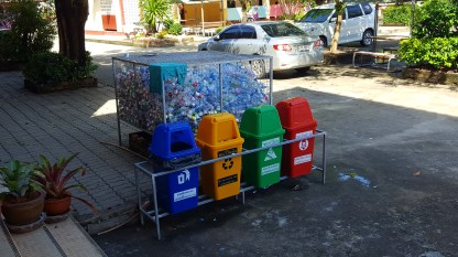 Plastic consumption is out of control in Thailand, but at least they have some recycling.