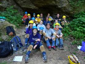 Caving with my new friends during camp orientation.