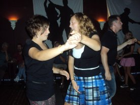 MacKenzie and I taking swing dance lessons in high school.