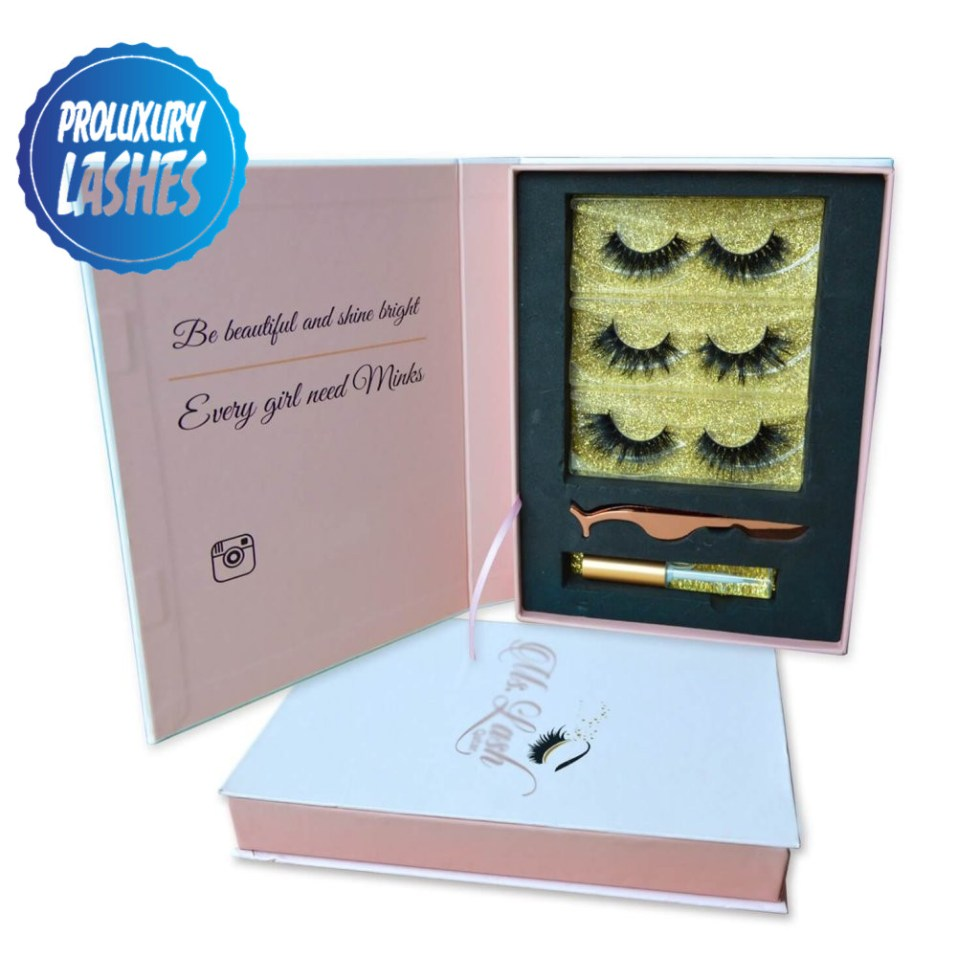 Customized eyelash book packing