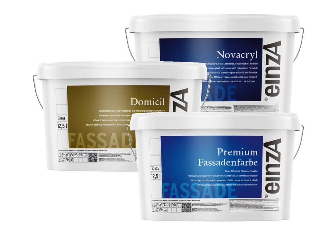 Reinacrylat und Premium Fassadenfarben
