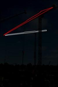 Контурная подсветка стрелы башенного крана