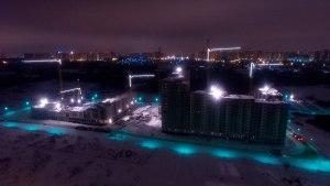 Подсветка строительных кранов светодиодной лентой