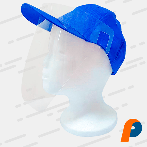Protector facial adaptable para gorra
