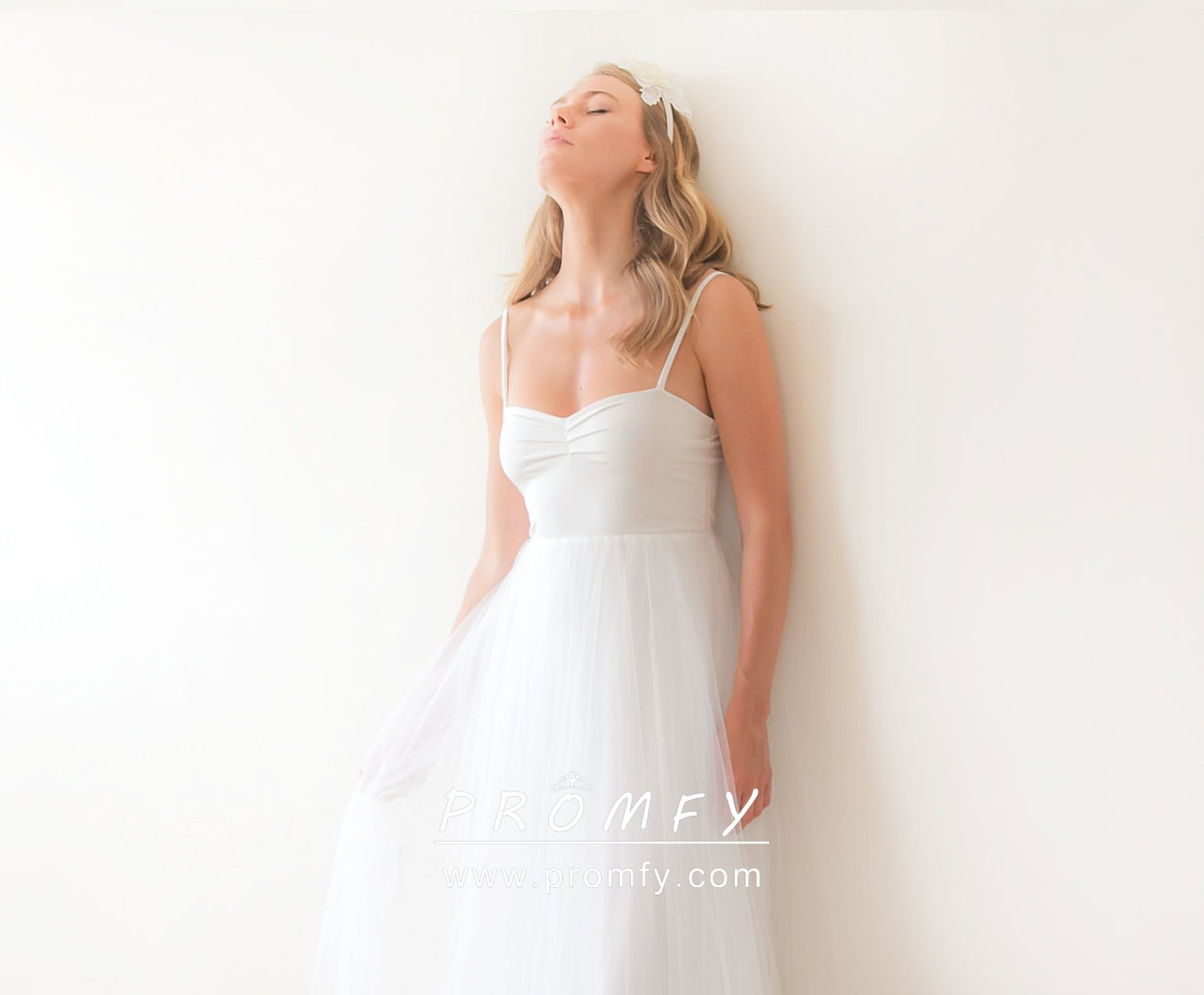 Simple Jersey And Tulle Empire Waist A-line Informal