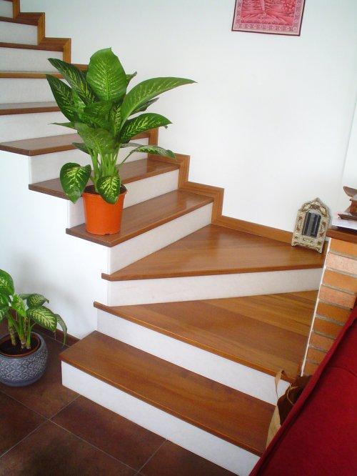 Promida escala graons fusta faldons marbre