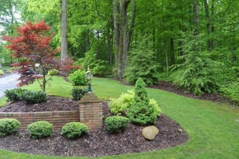 Newly Landscaped Column Area
