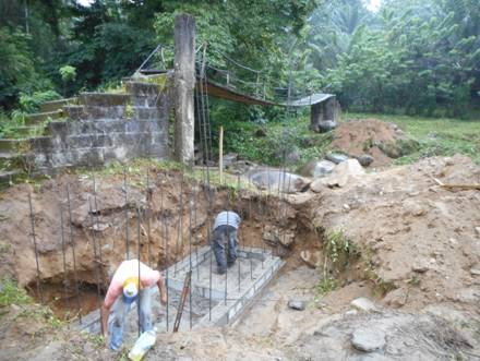 Jim Murphy's team building foot bridge.
