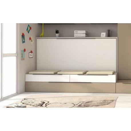 armoire lit escamotable auto portant horizontale rabattable gigogne canape banquette gain de place espace petit tetris