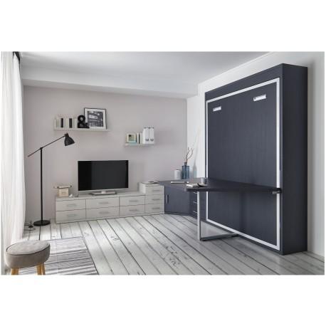 armoire lit escamotable vertical rabatable table repas personnalisable sur mesure amenagement salon chambre