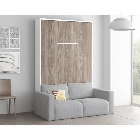 meuble lit escamotable vertical gain de place avec canape