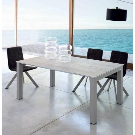 table fixe extensible ceramique dekton epoxy chrome bois promo chamon enix elba cancio discalsa kuydisen pure design mobliberica