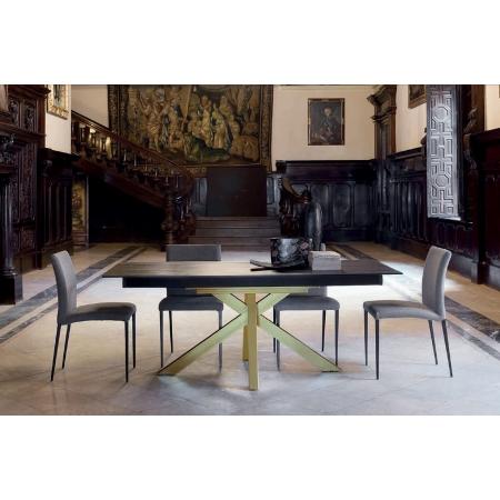 table pieds central fixe extensible ceramique dekton epoxy chrome promo moon discalsa kuydisen pure design mobliberica