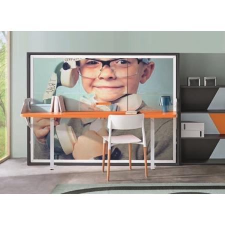 armoire lit escamotable 90x190 ou 140x190 gain de place avec bureau