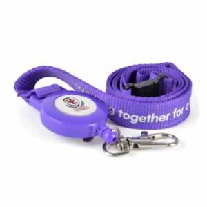 Lanyard - 900 x 20mm - with ski pass holder attachment