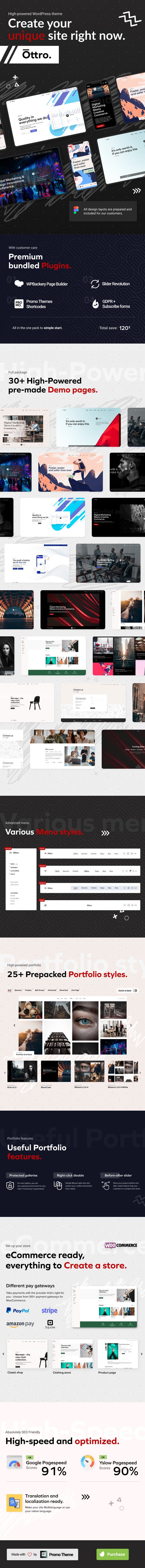 Ottro - Contemporary MultiPurpose WordPress Theme - 1