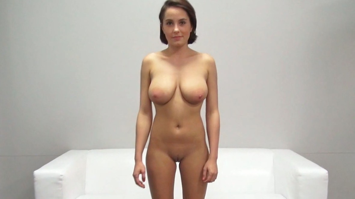 Czech Casting: Sexy Student with Big Natural Tits and Tight Pussy
