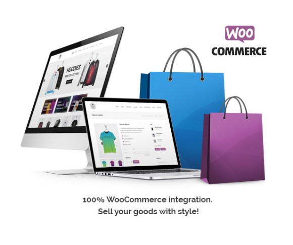 100% WooCommerce integration. Sell your goods with style.