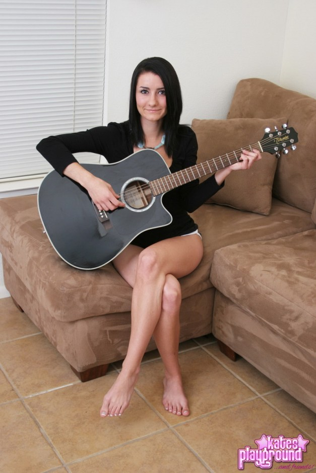 Kates cute girlfriend Stacy is just a country girl at heart as she gets naked playing the guitar