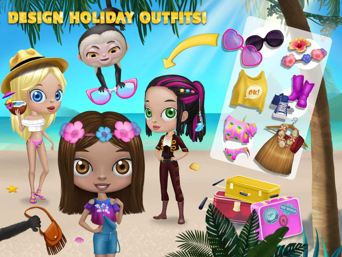 BFF World Trip Hawaii Game Created With TutoTOONS