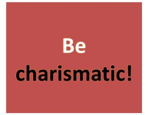 be-charismatic