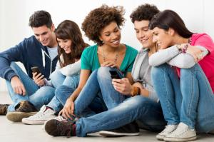 Friends Looking At Cell Phone