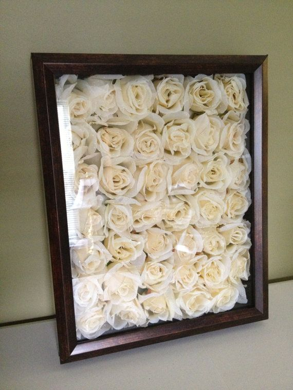 Floral Shadow Box, it'd be an awesome way to always have your wedding bouquet fl