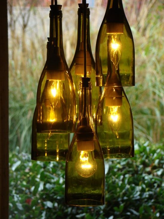 Genius Wine bottle chandelier