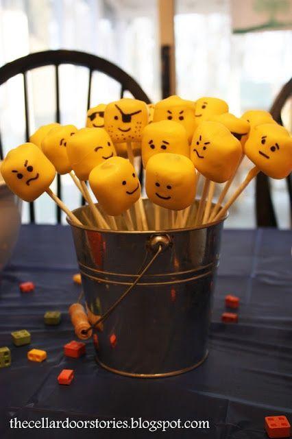 lego party ideas lego cakepops