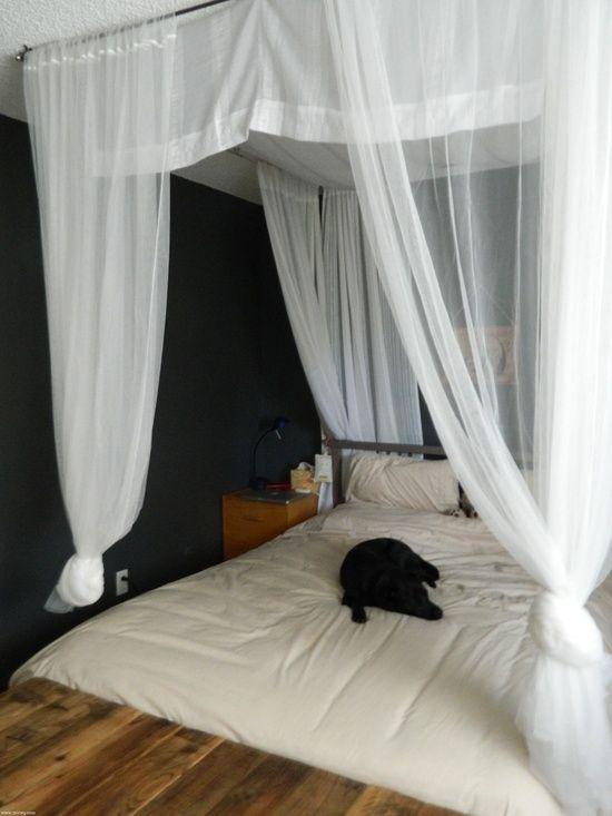 DIY canopy bed