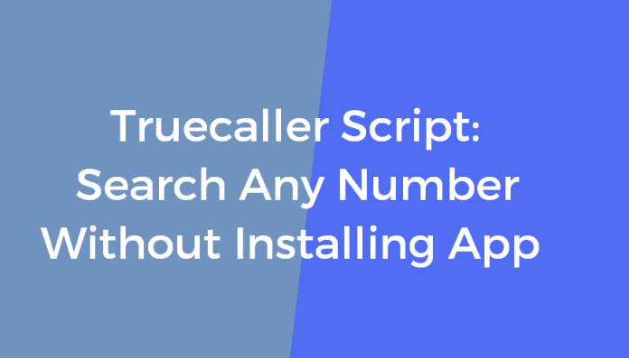 Truecaller Number Search Online Without Installing App Easily