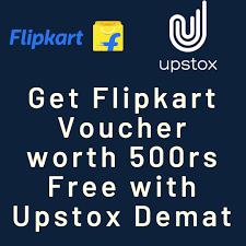 Upstox App Loot – Download & Get 500 Rs Flipkart Voucher + 800 Rs Per Refer to Bank