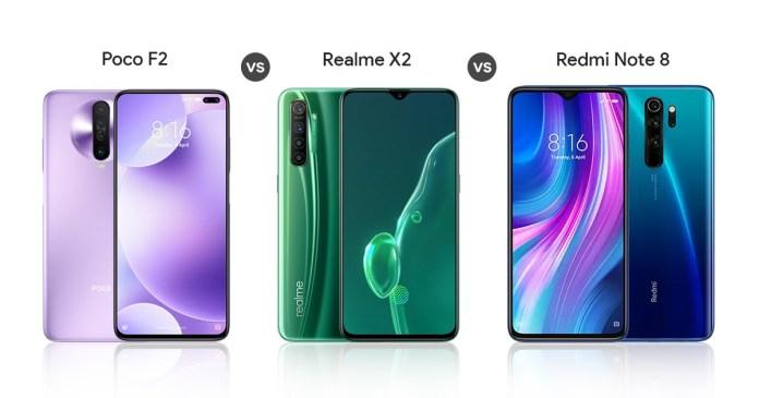 Poco x2 vs Redmi Note 8 pro vs Realme x2 - Which is Better?