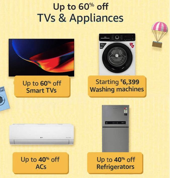 Amazon Prime Offers on TVs & Appliances