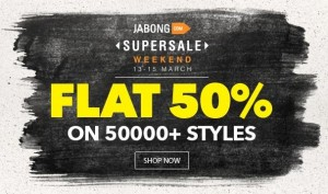 Jabong SuperSale Weekend