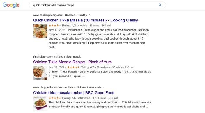 Searcher Intent Example Recipe