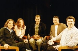 Joani Weir, Dr. Danielle, Nicholas Snow, Fabrice Tasendo and Matt Skallerud on the set of Tinseltown's Queer.