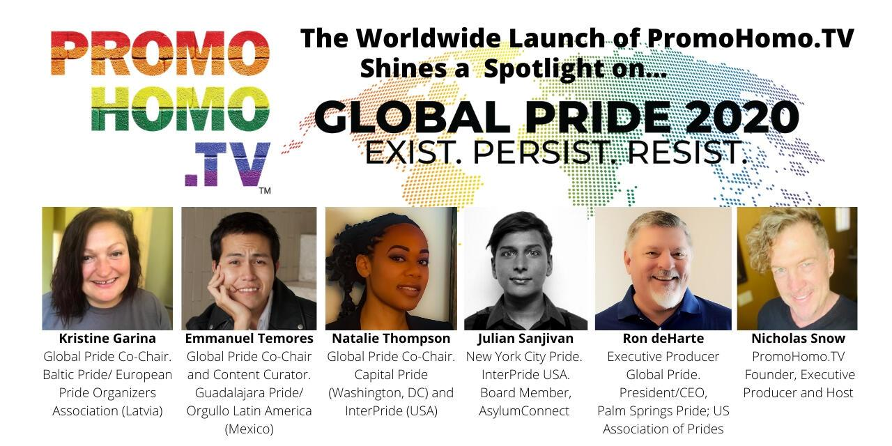 Global Pride 2020 in the Spotlight as PromoHomo.TV Expands into an Online Broadcast Network