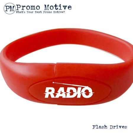 005A Red Wristband Bracelet USB Flash Drive.