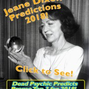 promo predictions 2018 by Jeane dixon pyschic