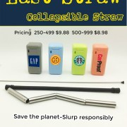 prices folding drinking straw for promotional product marketing