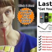 Thursday folding reusable drinking straw.