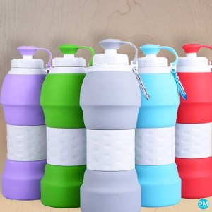 reusable silicone folding water bottle