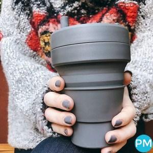 16 ounce folding coffee cup