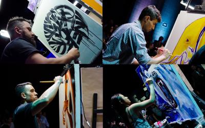 Art Battle Lounge acontece no Pullman Vila Olímpia
